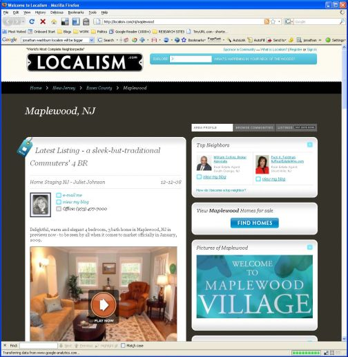 Localism Maplewood's home page